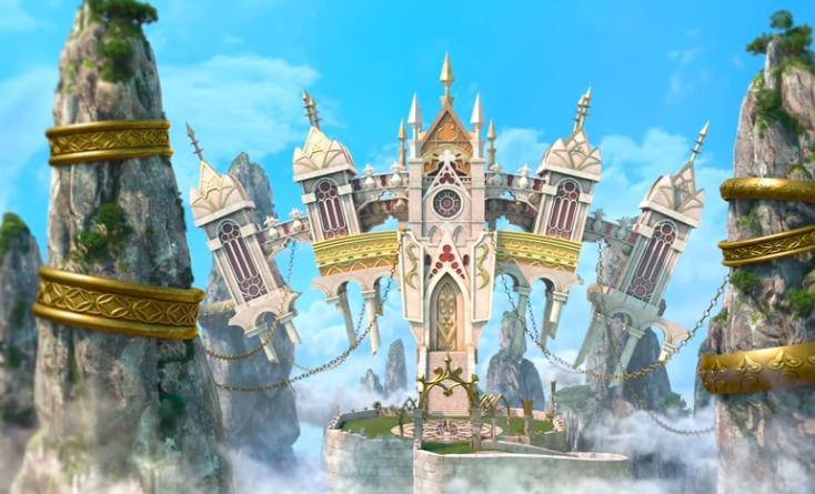 アクアの力で闇の世界が光のお城ができる